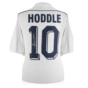 Glenn Hoddle Signed Tottenham Hotspur 1986 Shirt. Number 10