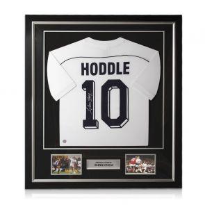 Glenn Hoddle Signed Tottenham Hotspur 1986 Shirt. Number 10. Deluxe Frame