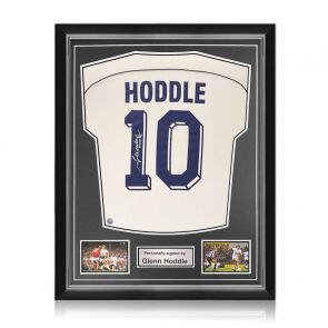 Glenn Hoddle Signed Tottenham Hotspur 1986 Shirt. Number 10. Superior Frame