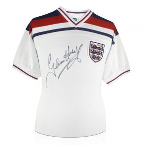 Glenn Hoddle Signed England 1982 Football Shirt