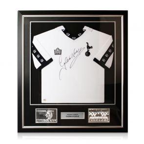 Glenn Hoddle Signed Tottenham Hotspur 1978 Shirt. Deluxe Frame