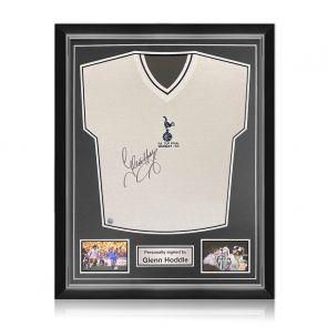 Glenn Hoddle Signed Tottenham Hotspur 1981 Shirt. Superior Frame
