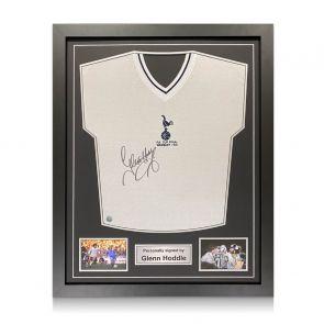 Glenn Hoddle Signed Tottenham Hotspur 1981 Shirt. Standard Frame