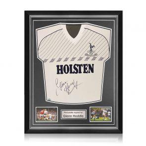 Glenn Hoddle Signed Tottenham Hotspur 1986 Shirt. Superior Frame