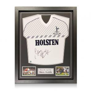 Glenn Hoddle Signed Tottenham Hotspur 1986 Shirt. Standard Frame