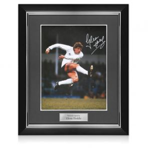 Glenn Hoddle Signed Tottenham Hotspur Photo: The Volley. Deluxe Frame