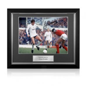 Glenn Hoddle Signed Tottenham Hotspur Photo: North London Derby. Deluxe Frame