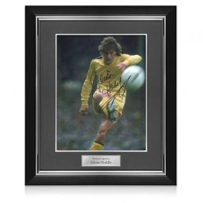 Glenn Hoddle Signed Tottenham Hotspur Photo: 1982 FA Cup Final. Deluxe Frame