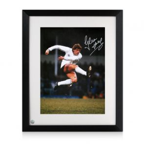 Glenn Hoddle Signed Tottenham Hotspur Photo: The Volley. Framed