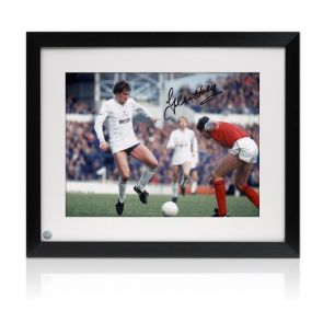 Glenn Hoddle Signed Tottenham Hotspur Photo: North London Derby. Framed