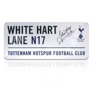 Glenn Hoddle Signed Tottenham Hotspur Street Sign