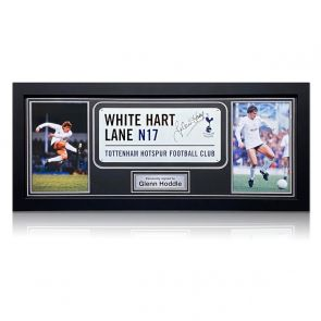 Glenn Hoddle Signed Tottenham Hotspur Street Sign. Framed