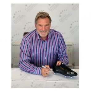 Glenn Hoddle Signed Football Boot. In Gift Box