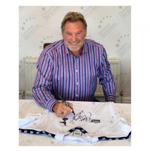 Glenn Hoddle Signed Tottenham Hotspur 1978 Shirt. Standard Frame