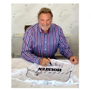 Glenn Hoddle Signed Tottenham Hotspur 1986 Shirt. Deluxe Framed