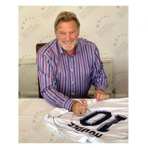 Glenn Hoddle Signed Tottenham Hotspur 1986 Shirt. Number 10. In Gift Box