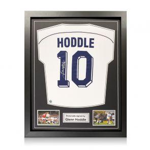 Glenn Hoddle Signed Tottenham Hotspur 1986 Shirt. Number 10. Standard Frame