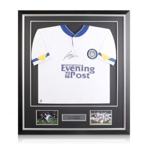 Framed Gordon Strachan Signed Leeds Shirt
