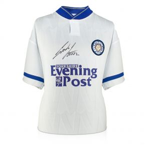 Gordon Strachan Signed Leeds Shirt