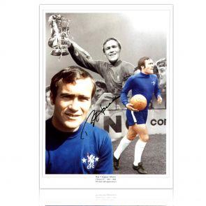 Ron Harris Signed Chelsea Photograph