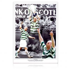 John Hartson Signed Celtic Photo