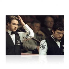 Signed Jimmy White and Stephen Hendry Photo. In Gift Box.