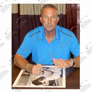 Sir Ian Botham Signed Limited Edition Print: Miracle Of Headingley In Deluxe Black Frame With Silver Inlay