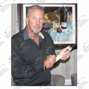 Sir Ian Botham Signed And Framed Duncan Fearnley Mini Cricket Bat