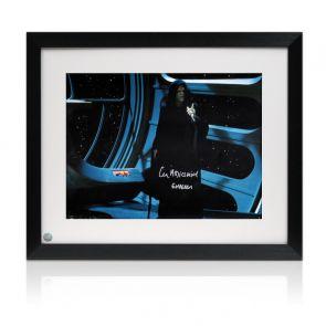 Ian McDiarmid Signed Star Wars Photo: The Emperor Framed