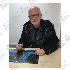 Ian McDiarmid Signed Star Wars Photo: The Emperor In Deluxe Black Frame With Silver Inlay