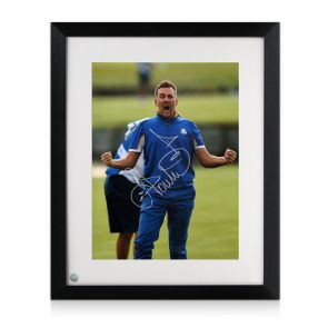 Framed Ian Poulter Signed Photo