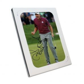Ian Poulter Signed Photo In Gift Box