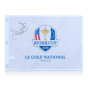 Ian Poulter Signed Pin Flag