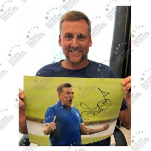 Ian Poulter Signed Golf Photo: Ryder Cup 2018. Framed