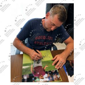 Ian Poulter Signed Golf Photo: Birdie On The 16th. In Gift Box