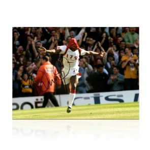Ian Wright Signed Arsenal Photo: 179 Goals, Just Done It. In Gift Box