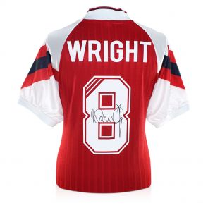 Ian Wright Signed Arsenal Football Shirt. In Gift Box