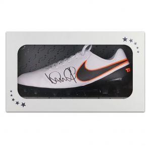 Ian Wright signed left football boot