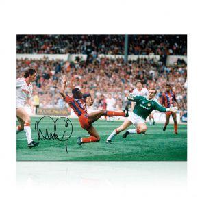 Ian Wright Signed Crystal Palace Photo: FA Cup Final Goal