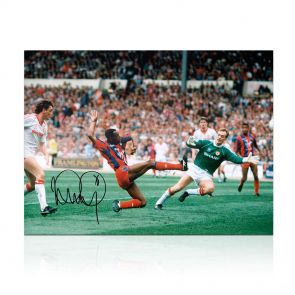 Ian Wright Signed Crystal Palace Photo: FA Cup Final Goal. In Gift Box