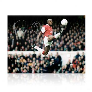 Ian Wright Signed Arsenal Photo: The Perfect Touch. In Gift Box