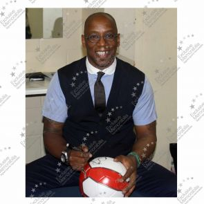 Ian Wright Signed Arsenal Football In Display Case