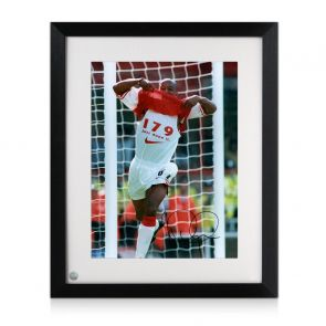 Ian Wright Signed And Framed Arsenal Photo