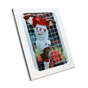Ian Wright Signed Arsenal Photo: 179 Goals. In Gift Box