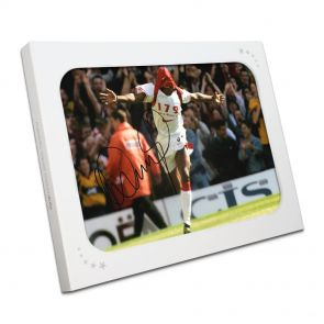 Ian Wright Signed Arsenal Picture In Gift Box