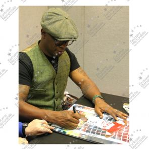 Ian Wright Signed Arsenal Photo: 179 Goals