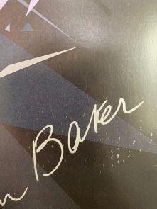 Tom Baker Signed Dr Who Tardis Poster - Damaged Stock F