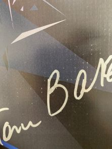 Tom Baker Signed Dr Who Tardis Poster - Damaged Stock B