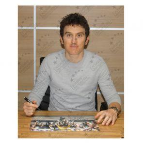 Geraint Thomas Signed Tour De France Photo: Alpe D'Huez Sprint. Deluxe Frame