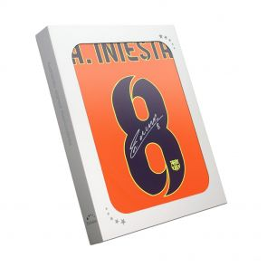 Andres Iniesta Signed Barcelona Shirt In Gift Box